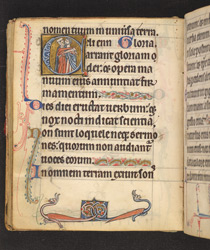 Historiated Initial With The Meeting Of Joachim And Anne, In 'The De Brailes Hours'